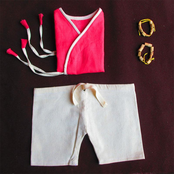 Pure Cotton Handloom Clothes and Accessories Combo For Babies - Box 5 (6 - 12 Months)