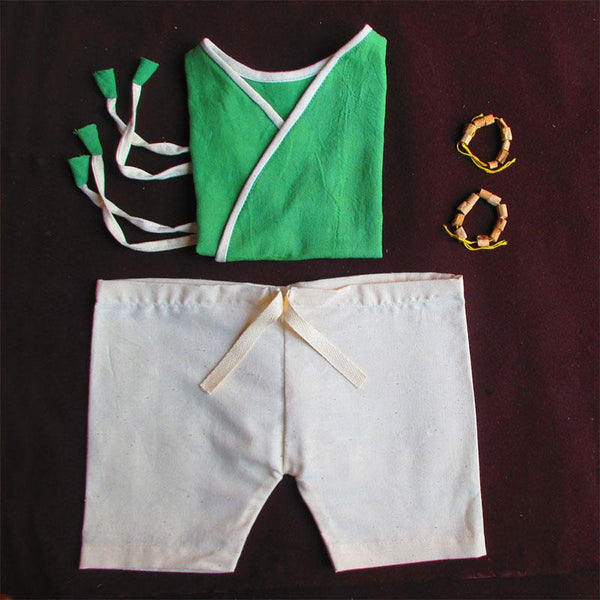 Pure Cotton Handloom Clothes and Accessories Combo For Babies - Box 6(0 - 6 Months)