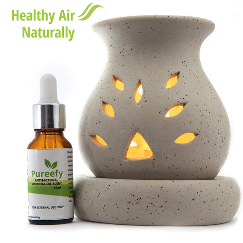 Pureefy Antibacterial Essential Oil Blend (with Electric Diffuser)