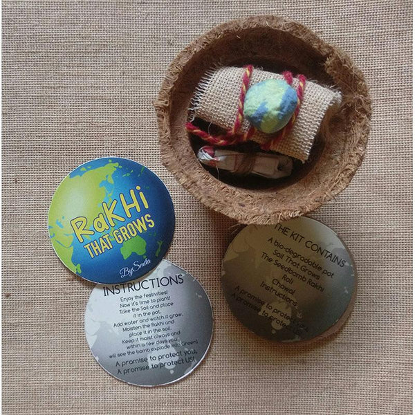Eco-friendly Plantable Rakhi (Pack of 2)