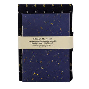 Refillable Handmade Paper Journal Set
