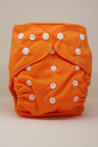 Regular Economic Reusable Cloth Cover Diaper - Orange