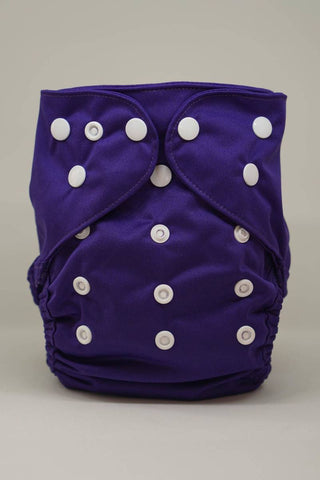 Regular Economic Reusable Cloth Cover Diaper - Purple