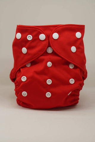 Regular Economic Reusable Cloth Cover Diaper - Red