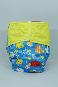 Reusable Bumkin Night Time Diaper - Fish & Dip