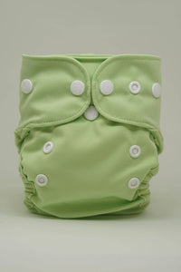 Reusable Cloth Diaper for Newborns - Green