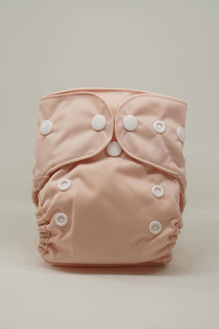 Reusable Cloth Diaper for Newborns - Peach