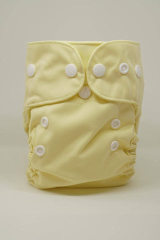 Reusable Cloth Diaper for Newborns - Yellow