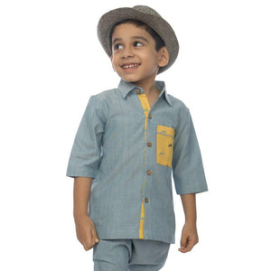 River Blue Casual Boy's Shirt made of Organic Cotton