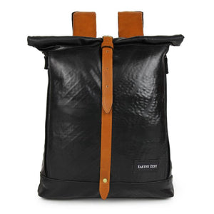 Upcycled Roll Down Unisex Laptop Backpack