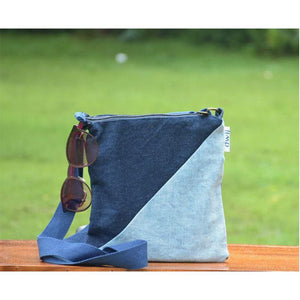 Rush Bag made with Upcycled Jeans