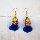 Russian Doll Pom Pom Earrings Handcrafted by Women Artisans of Varanasi