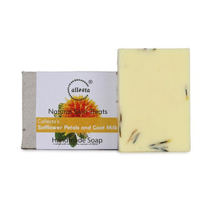 Safflower Petal and Goat Milk Natural Soap, 100g