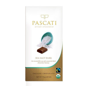 Organic Sea Salt Chocolate, 75g (Pack of 2)