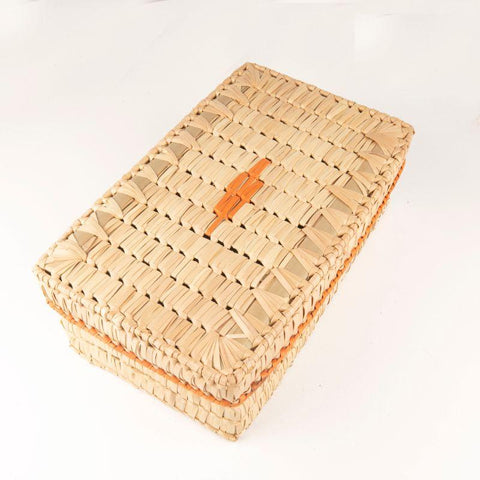 Handwoven Palm Leaf Saree Box