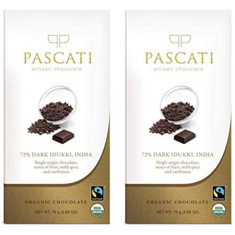 Single Origin Kerala Organic 72% Dark Chocolate, 75g (Pack of 2)