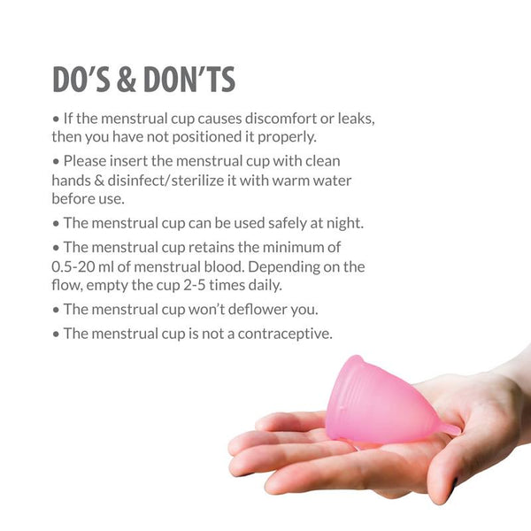 Reusable Menstrual Cup made of Medical Grade Silicone - Medium