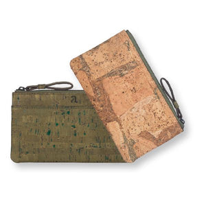 Cork Fabric Women's Minimal Wallet - Olive + Terrain