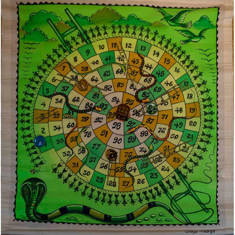 Snakes and Ladders -  Handmade Traditional Indian Board Game