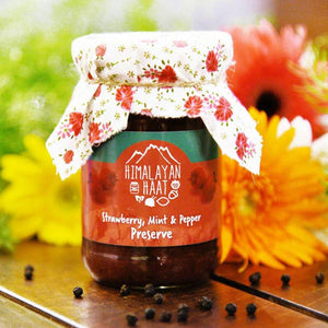 Strawberry, Mint and Pepper Preserve, 340g