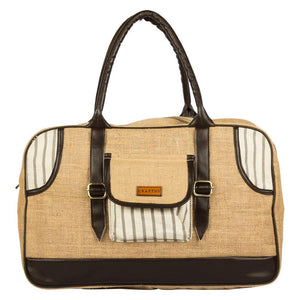Streak Love Jute Duffel Bag Handmade by Women Artisans