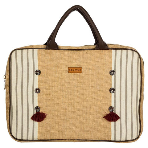 Streak Love Jute Laptop Sleeve Made by Women Artisans