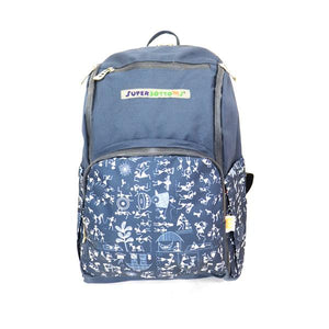 Super BackPack - Diaper Bag with 17 compartments (Warli Art)