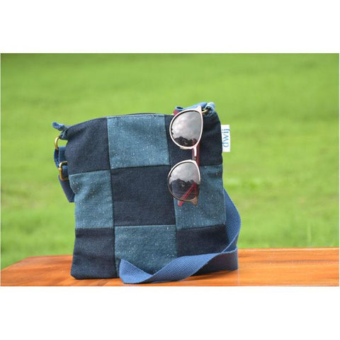 Swift Bag made with Upcycled Jeans