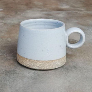 Handmade Stoneware Small Tea Mug - Blue(Set of 2)