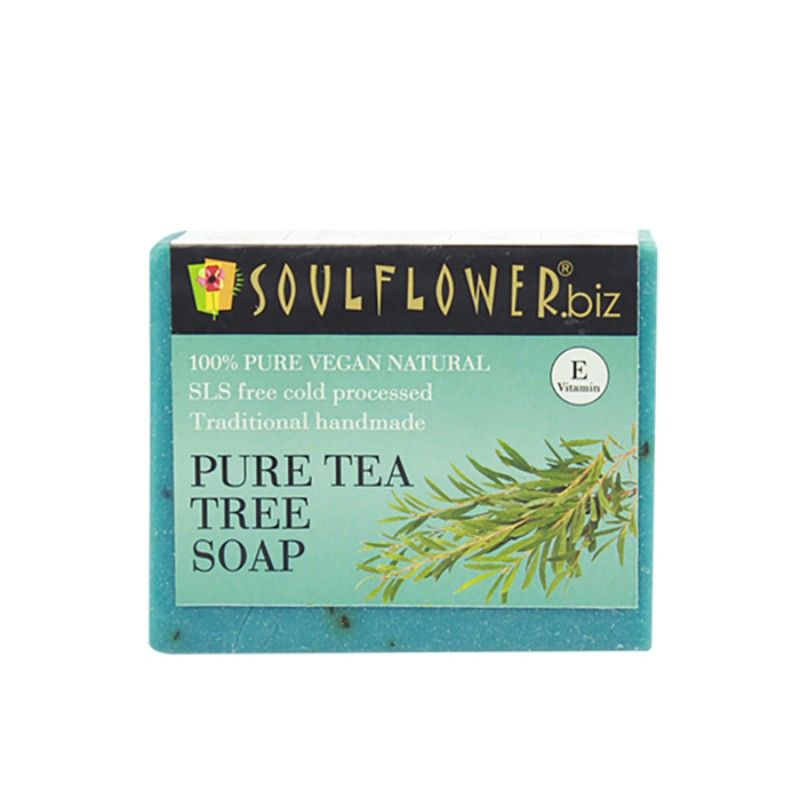 Soulflower Handmade Soap, Tea Tree, 150g