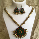 Terracotta Jewellery Set Handmade by Women Artisans - Round Design