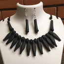 Terracotta Jewellery Set Handmade by Women Artisans - Black