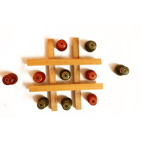 Wooden Tic Tac Toe Handcrafted by Traditional Artisans