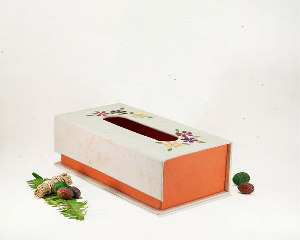 Floral Tissue Box Handmade by Women Artisans