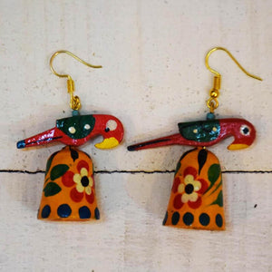 Tota with Jhumki Earrings Handcrafted by Women Artisans of Varanasi