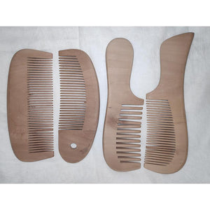Udayagiri Handcrafted Wooden Combs (Set of 4)