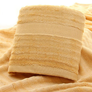 Ultra Soft, Absorbent and Anti-Microbial 600 GSM Bamboo Bath Towel - Golden Brown