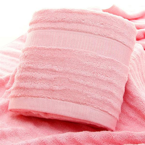 Ultra Soft, Absorbent and Anti-Microbial 600 GSM Bamboo Bath Towel - Pink