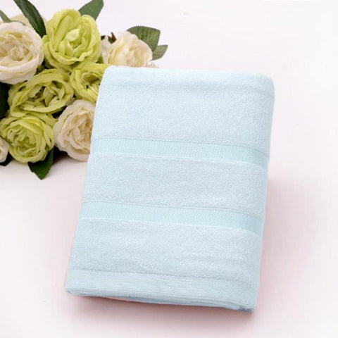 Ultra Soft, Absorbent and Anti Microbial 450 GSM Bamboo Bath Towel (Aqua Blue)