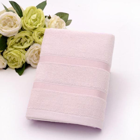 Ultra Soft, Absorbent and Anti-Microbial 450 GSM Bamboo Bath Towel (Baby Pink)