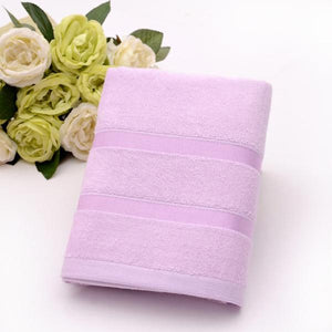 Ultra Soft, Absorbent and Anti Microbial 450 GSM Bamboo Bath Towel (Lavender)