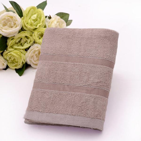 Bamboo Bath Towel - 450 GSM, Ultra Soft, Absorbent and Anti Microbial (Brown)