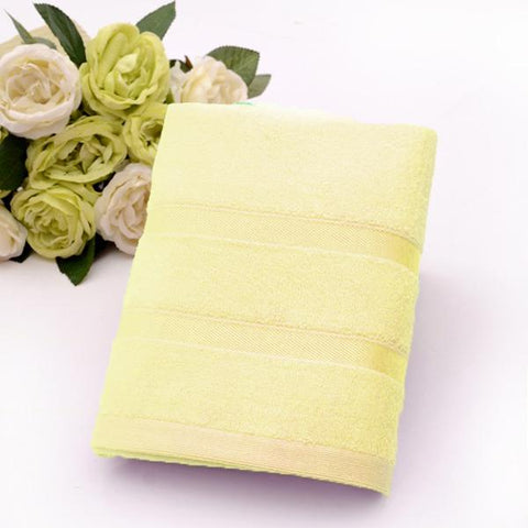 Ultra Soft, Absorbent and Anti Microbial 450 GSM Bamboo Bath Towel  (Yellow)