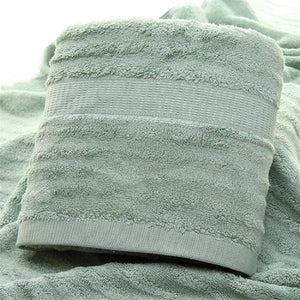 Ultra Soft, Absorbent and Anti Microbial 600 GSM Bamboo Bath Towel - Olive Green