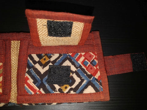 Unisex Wallet (Geometric Print) - Created by Women Artisans from Hyderabad