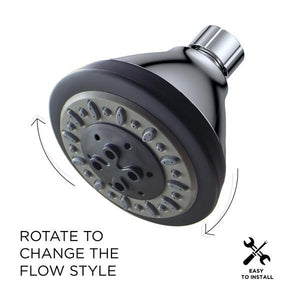 Water-Saving AirOxy 3-Function Shower Head