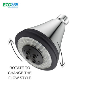 Water-Saving AirOxy 3 Function Shower Head With LED Lights