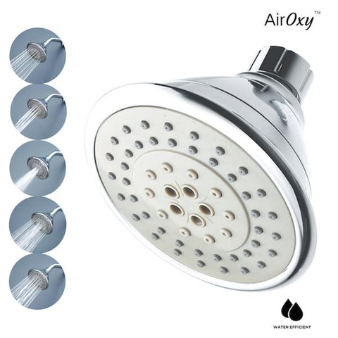 Water-Saving AirOxy Shower Head with 5-in-1 Flow