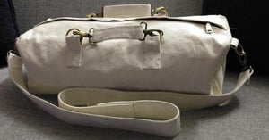 White Canvas Duffle Bag