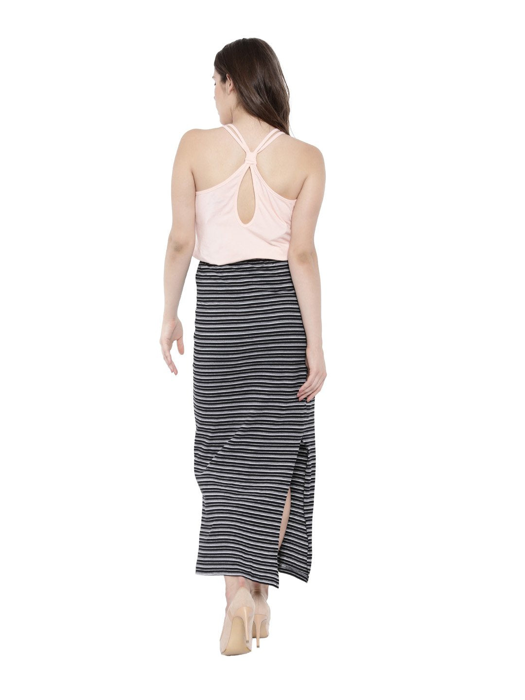 Women's Bamboo Relaxed Fit Knotted Back Top - Summer Blush